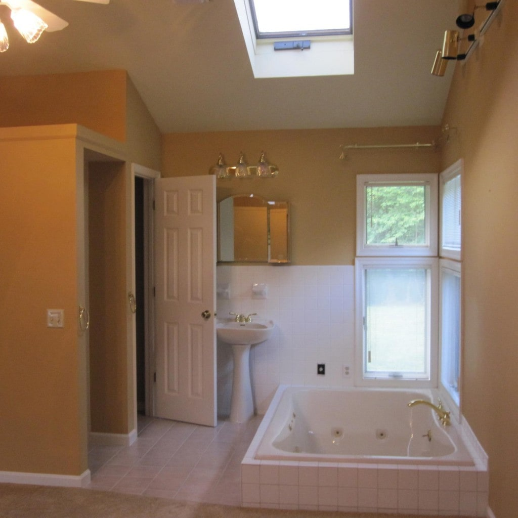 A bathroom redesign, before