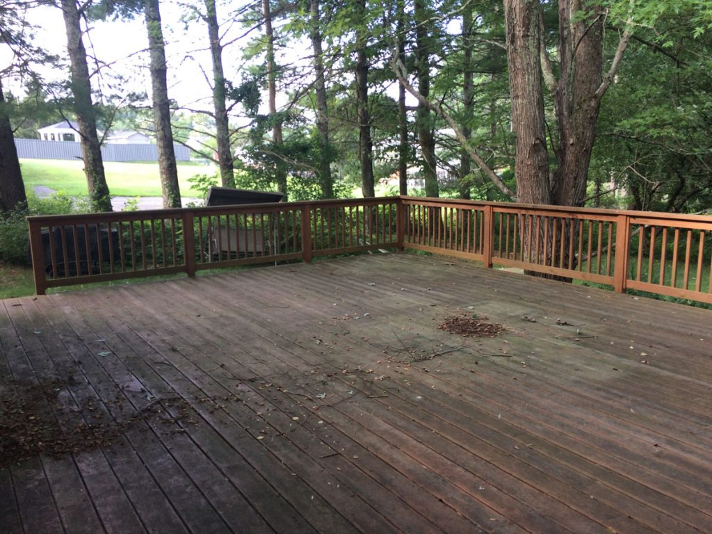 Deck Refinishing, before