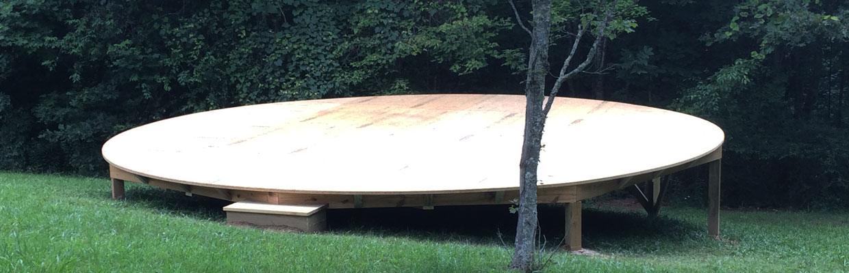Yurt Platform in Floyd, Virginia by Stefan Morikawa, LLC