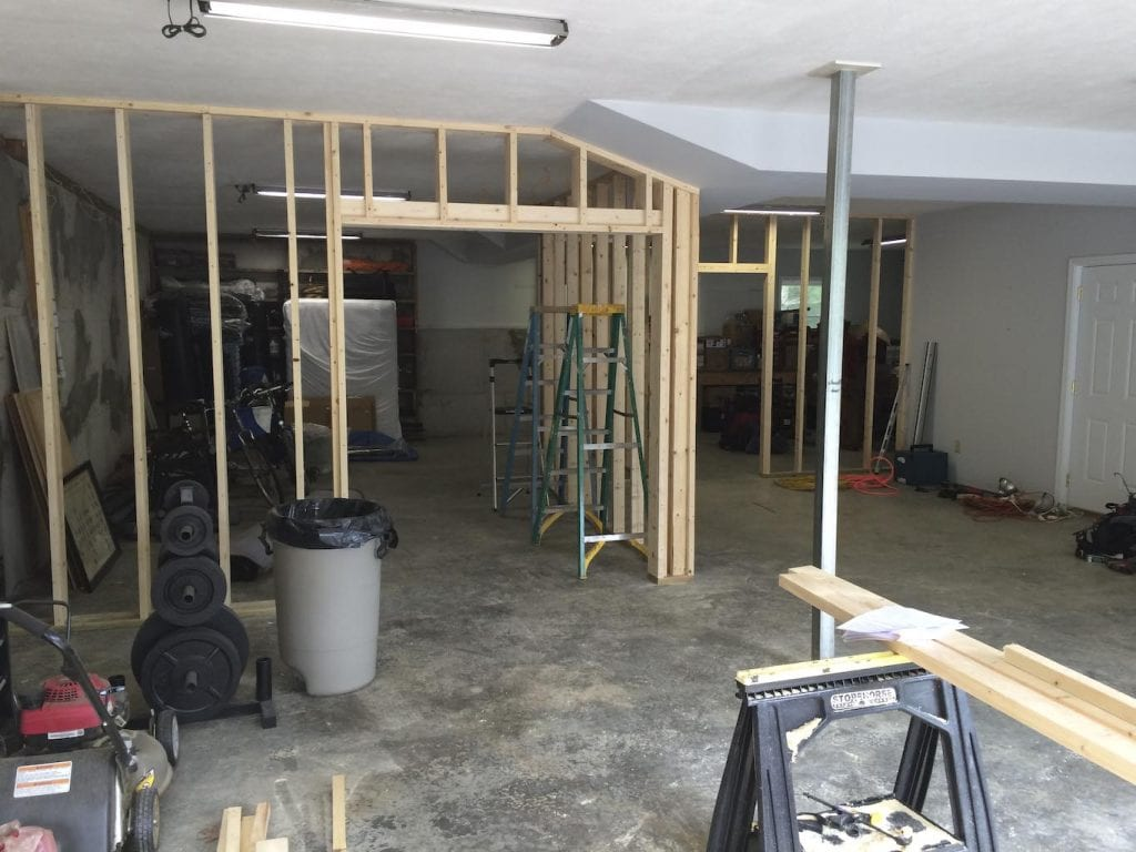 Martial Arts Workout & Medicine Rooms - Basement Rennovation progress