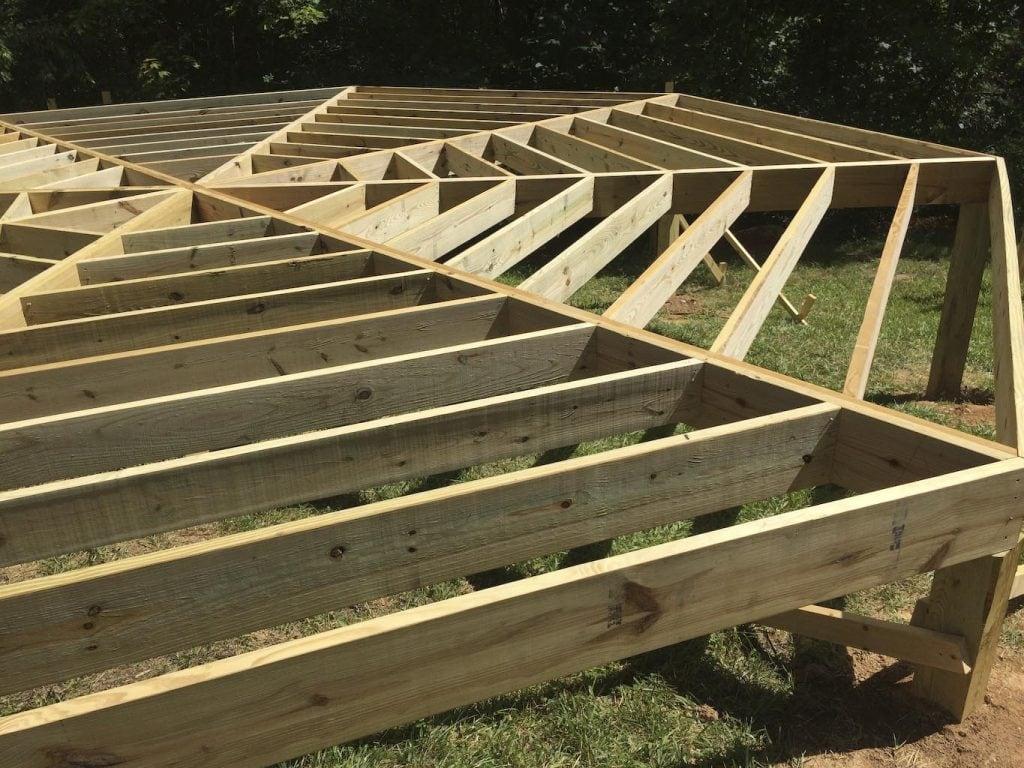 Progress on Yurt Platform in Floyd, Virginia by Stefan Morikawa, LLC